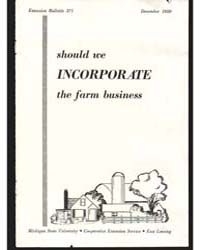 Should We Incorporate the Farm Business,... by Michigan State University
