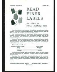 Read Fiber Labels, Bulletin 373, Documen... by Michigan State University
