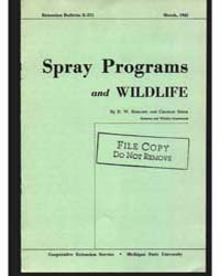 Spray Programs and Wildlife, Bulletin E-... by Charles Shick