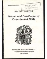 Descent and Distribution of Property, an... by Michigan State University