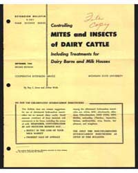 Mites and Insects of Dairy Cattle, Docum... by Wells, Arthur