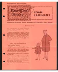 Foam Laminates, Cooperative Extension Se... by Bernetta Kahabka