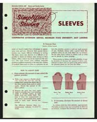 Sleeves, Cooperative Extension Service, ... by Margaret Reed