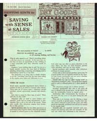 Shopping Hints for Saving with Sense at ... by Berntta Kahabka