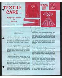 Textile Care, Keeping Clothes in Service... by Margaret Reed