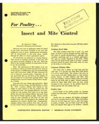 For Poultry, Insect and Mite Control, Do... by Donald C. Cress