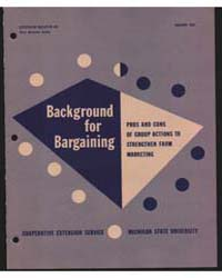Background for Bargainng, Document E407 by Michigan State University