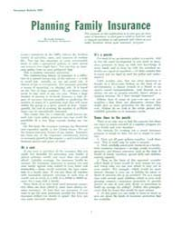 Planning Family Insurance, Document E409... by Lucile Ketchum