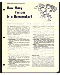 How Many Persons is a Homemaker?, Docume... by Helen E. Bell