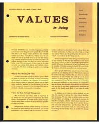 Values in Living, Document E416 by Michigan State University