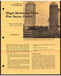High-moisture Corn for Dairy Cattle, Doc... by Donald Hillman