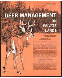 Deer Management on Private Lands, Docume... by Charles Shick