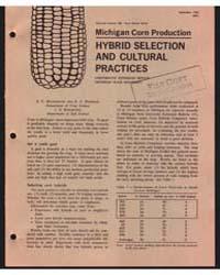 Michigan Corn Production , Document E436 by S. C. Hildebrand