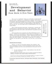 Developinent and Behavior, Document E437... by Michigan State University