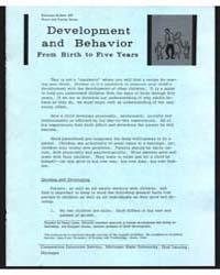 Development and Behavior , Document E437... by Michigan State University