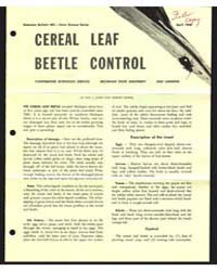 Cereal Leaf Beetle Control, Document E44... by L. Janes