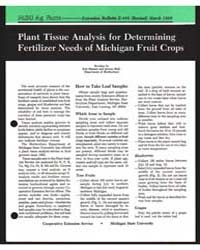 Plant Tissue Analysis for Determining Fe... by Eric Hanson