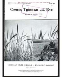 Coming Through with Rye, Document E44Rev... by Johnson, Alvin A.