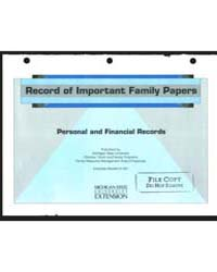 Record of Important Family Papers, Docum... by Michigan State University