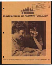 Management in Families, What is Home Man... by Michigan State University
