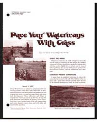 Pave Your Waterways with Grass, Document... by Russell G. Hill
