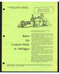 Rates for Custom Work in Michigan, Docum... by D. L. Good