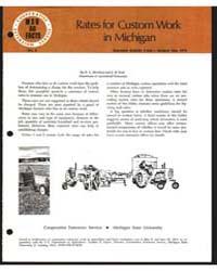 Rates for Custom Work in Michigan, Docum... by R. L. Meekhof