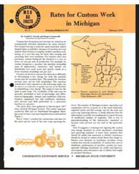 Rates for Custom Work in Michigan, Docum... by Gerald D. Schwab