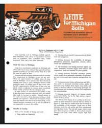 Lime for Michigan Soils , Document E471R... by D. R. Christenson