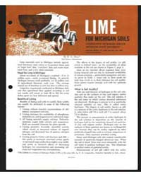 Lime for Michigan Soils , Document E471R... by E. C. Doll