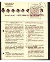 Egg Production Contracts, Document E475 by C. C. Sheppard