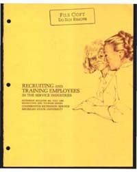 Recruiting and Training Employees in the... by Robert W. McIntosh