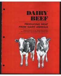 Dairy Beef, Document E485 by J. A. Speicher