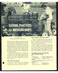 Seeding Practices for Michigan Crops, Do... by S. C. Hildebrand