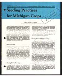 Seeding Practices for Michigan Crops, Do... by Zane R. Helsel