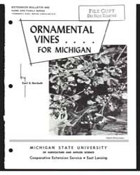 Ornamental Vines for Michigan, Document ... by Carl S. Gerlach