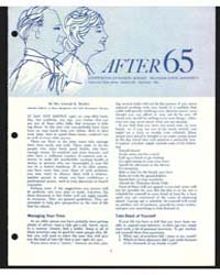 After 65, Cooperative Extension Service ... by Mrs. Lennah K. Backus
