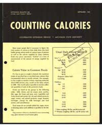 Counting Calories, Document E500 by Michigan State University