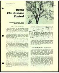 Dutch Elm Disease Control, Document E506... by W. E. Wallner