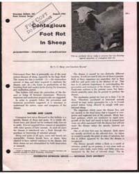 Contagious Foot Rot in Sheep, Bulletin 5... by Graydon Blank