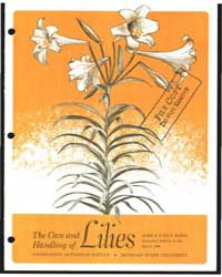 The Care and Handling of Lilies, Bulleti... by Richard S. Lindstrom