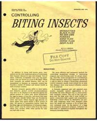 Controlling Biting Insects, Bulletin 522... by Michigan State University
