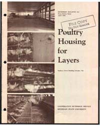 Poultry Housing for Layers, Bulletin 524... by H. C. Zindel