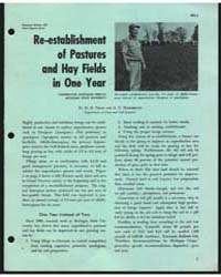 Re-establishment of Pastures and Hay Fie... by S. C. Hildebrand