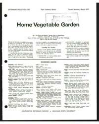 Home Vegetable Garden, Bulletin E-529, D... by Howard S. Potter