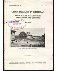 Chick Diseases in Michigan, Document E53 by H. J. Stafseth