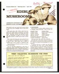 Edible Mushrooms, Bulletin 531, Document... by Michigan State University