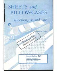 Sheets and Pillowcases Selection, Use, a... by Michigan State University