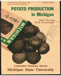 Potato Production in Michigan, Document ... by R. W. Chase