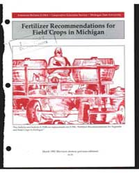 Fertilizer Recommendations for Field Cro... by D. R.Christenson
